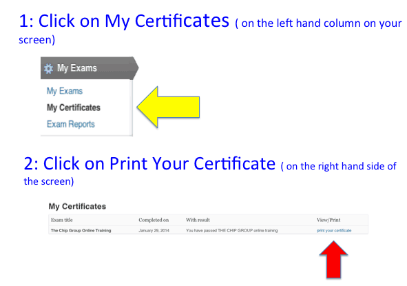 how to print your certificate
